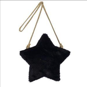 Faux Fur Girls Black Star Bag